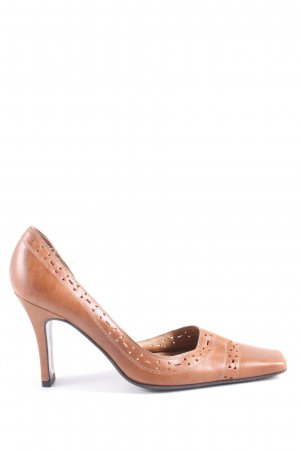 Zara High Heels braun Casual-Look