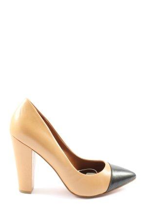 Zara High Heels nude-schwarz Business-Look