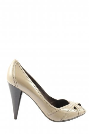 Zara High Heels braun Business-Look