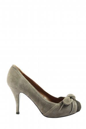 Zara High Heels hellgrau Casual-Look