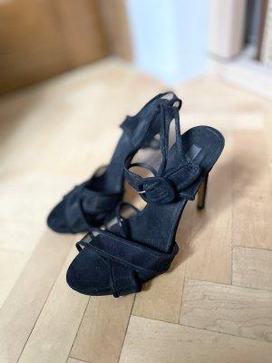 Zara Sandalen met bandjes en hoge hakken zwart