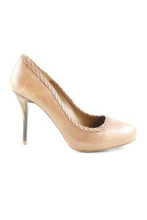 Zara High Heels braun abstraktes Muster klassischer Stil
