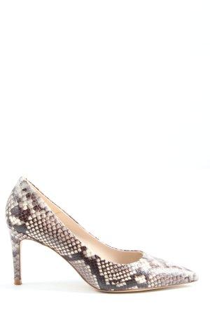 Zara High Heels creme-braun Animalmuster Elegant