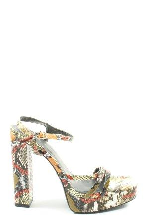 Zara High Heels Allover-Druck Elegant