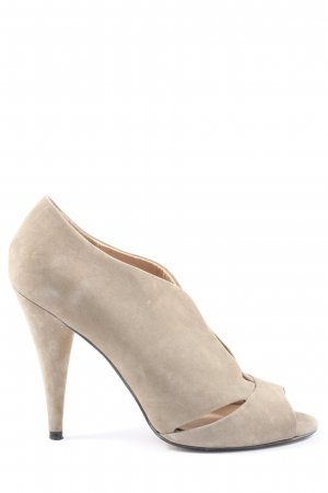 Zara High Heels wollweiß Business-Look