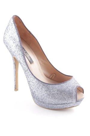 Zara High Heels grau Party-Look