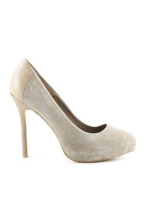 Zara High Heels graubraun Casual-Look