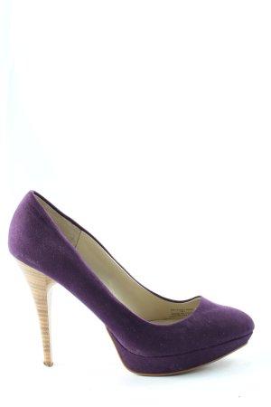 Zara Tacones altos lila look casual