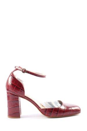 Zara High Heels mit Riemchen hot! Kroko-Look