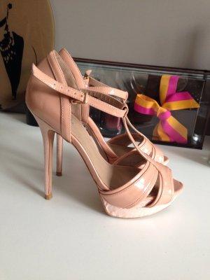 Zara High Heels Plateau Rosa Nude Gr 38