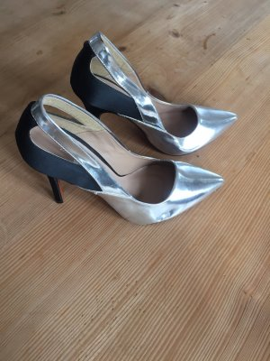 Zara High Heels Silber Metallic, Gr. 40
