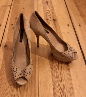 Zara High Heels /  / Peeptoes / Strass / Nude