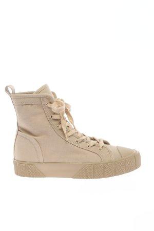 Zara High Top Sneaker wollweiß schlichter Stil