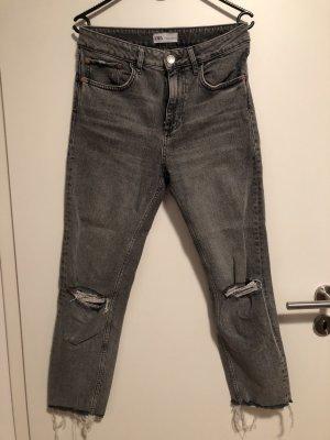 Zara high waist ankle Jeans grau 38 M