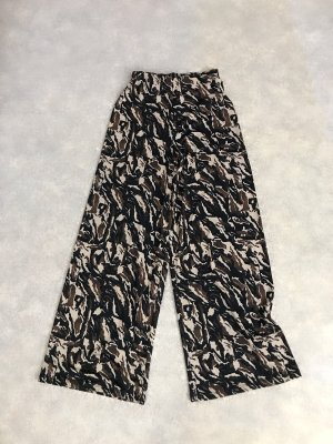 Zara High Waist Camouflage Design Hose Culotte S