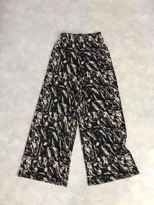 Zara High Waist Camouflage Hose Culotte S