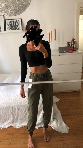 Zara High Waist Cargo Pants Chino Hose Jogginghose