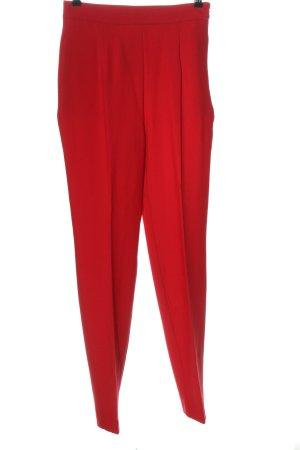 Zara Pantalone a vita alta rosso stile casual