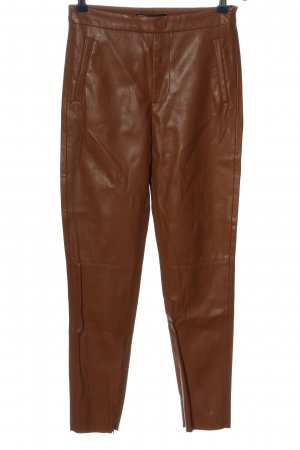 Zara High Waist Trousers brown casual look
