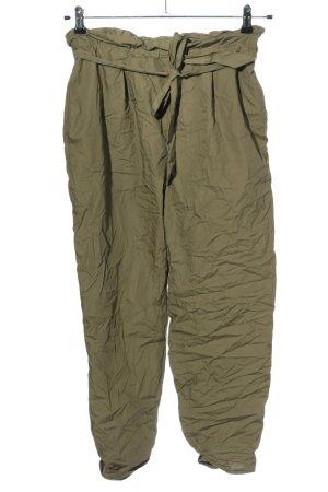 Zara High-Waist Hose grün Casual-Look