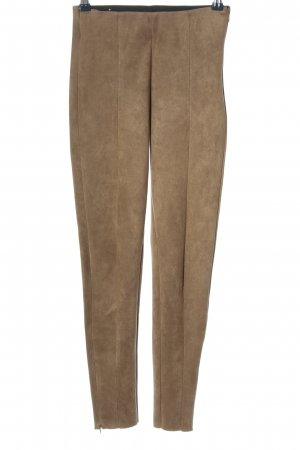 Zara High-Waist Hose braun Casual-Look