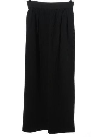 Zara High-Waist Hose schwarz Streifenmuster Business-Look