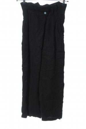 Zara High-Waist Hose schwarz Casual-Look