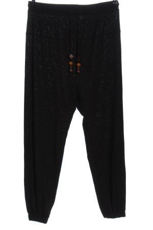 Zara Spodnie z wysokim stanem czarny W stylu casual