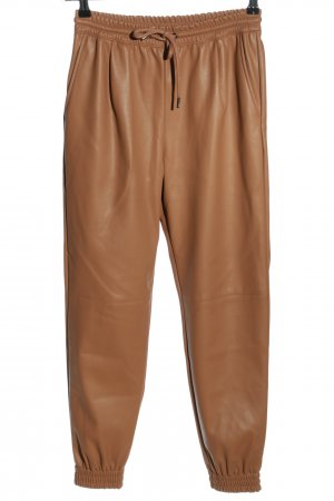 Zara High-Waist Hose bronzefarben Business-Look