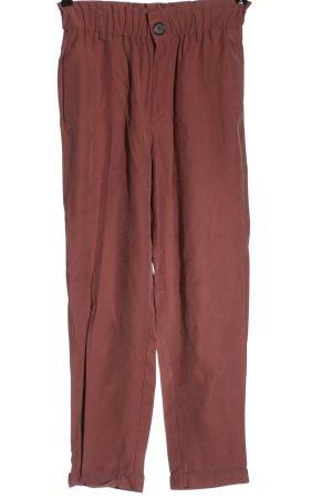Zara Spodnie z wysokim stanem czerwony W stylu casual