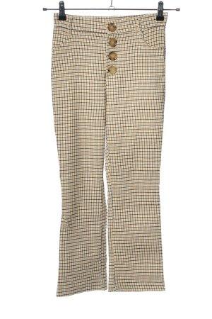 Zara High-Waist Hose creme Allover-Druck Elegant