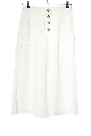 Zara High-Waist Hose weiß Casual-Look