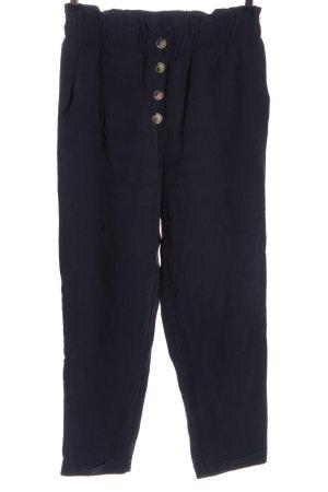 Zara High-Waist Hose blau Casual-Look