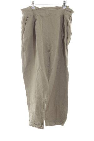 Zara High-Waist Hose wollweiß Casual-Look