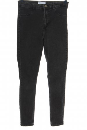 Zara High Waist Jeans schwarz Casual-Look