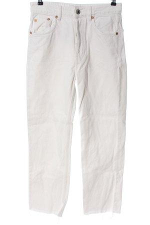Zara High Waist Jeans weiß Casual-Look