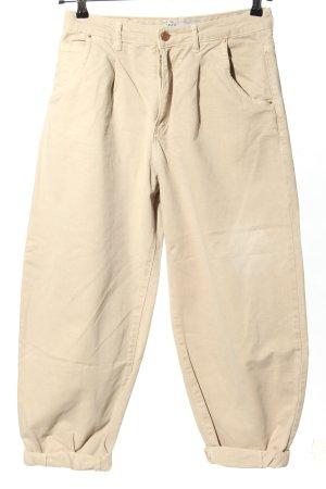 Zara High Waist Jeans creme Casual-Look