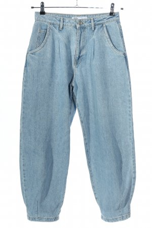 Zara High Waist Jeans blau meliert Casual-Look