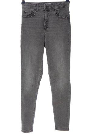 Zara High Waist Jeans schwarz Casual-Look