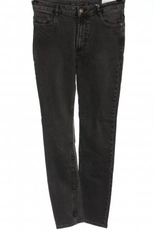 Zara High Waist Jeans hellgrau Elegant
