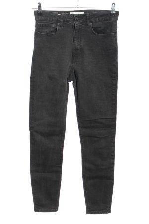 Zara Jeansy z wysokim stanem czarny W stylu casual