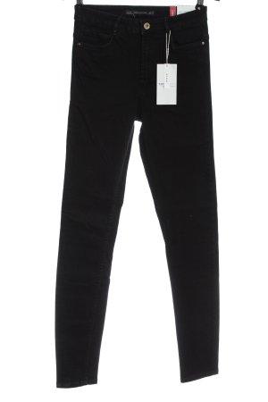 Zara High Waist Jeans schwarz Elegant
