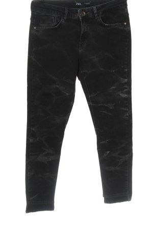 Zara Slim Jeans schwarz-hellgrau Casual-Look