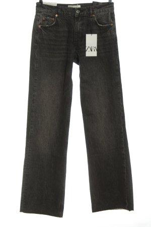 Zara Jeans svasati grigio chiaro stile casual