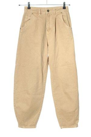 Zara Jeans taille haute crème style décontracté