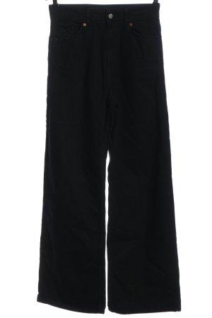 Zara High Waist Jeans schwarz Streifenmuster Casual-Look