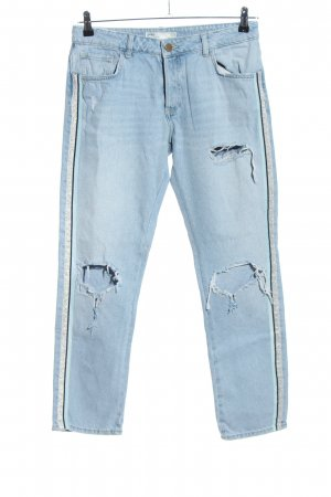 Zara High Waist Jeans blau Glanz-Optik
