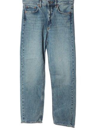 Zara Jeans taille haute bleu style décontracté