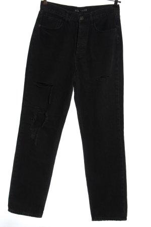 Zara Jeans a vita alta nero stile casual