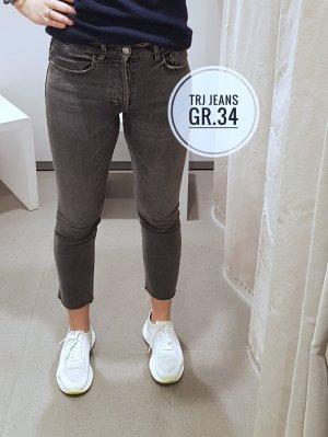 Zara Jeansy z prostymi nogawkami szary